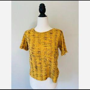 Zara Crop Top Yellow Women's size Medium